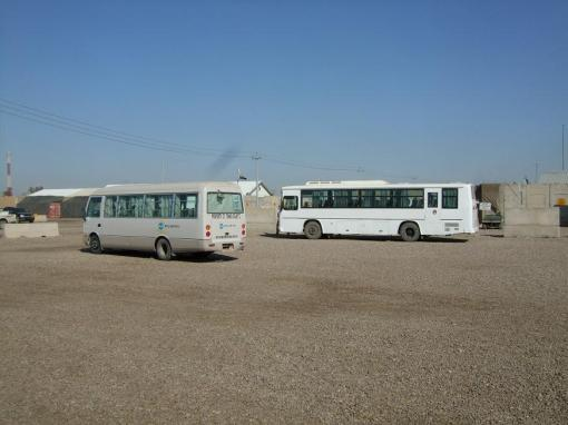 Iraqi buses. There might actually be a bomb!